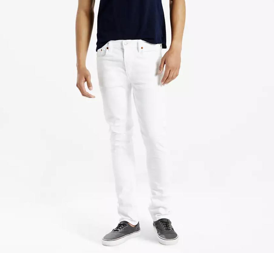 white jeans slim fit mens