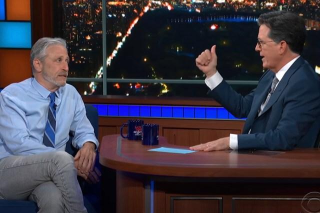 Jon Stewart Floats the Covid-19 Wuhan Lab Theory With Stephen Colbert.jpg