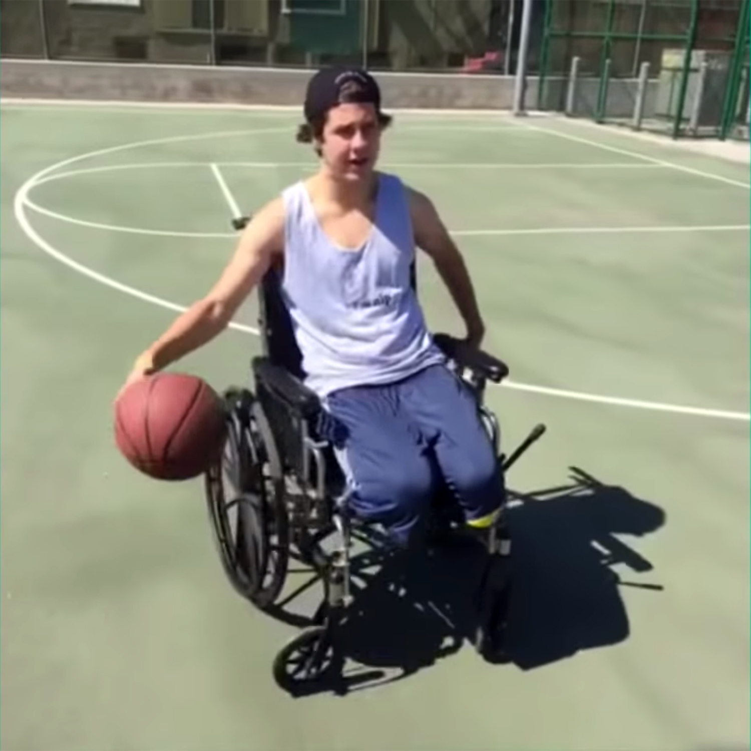 Dobrik in one of his early Vine videos circa 2015, pretending to be disabled