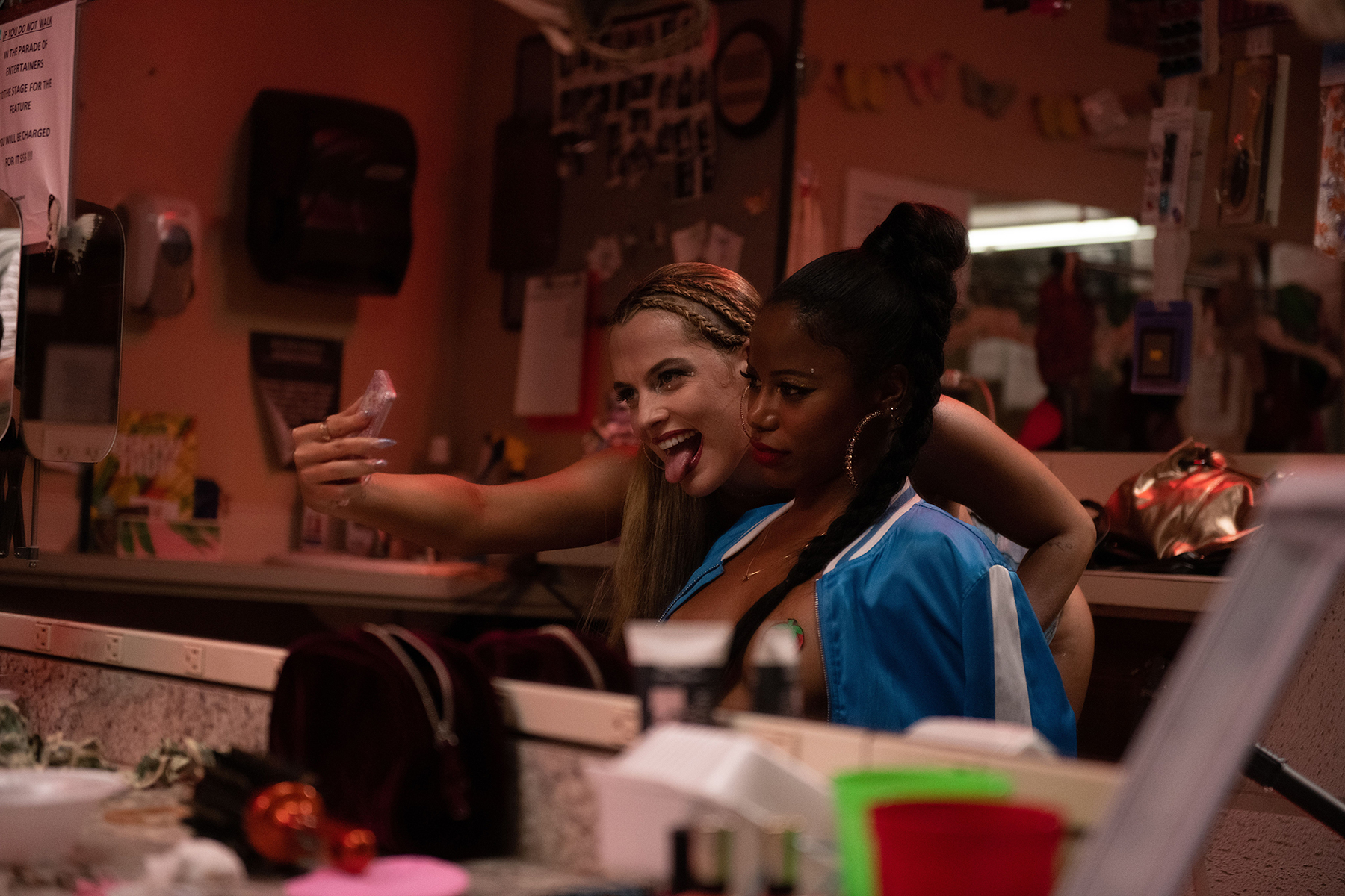 Riley Keough and Taylour Paige in 'Zola.'