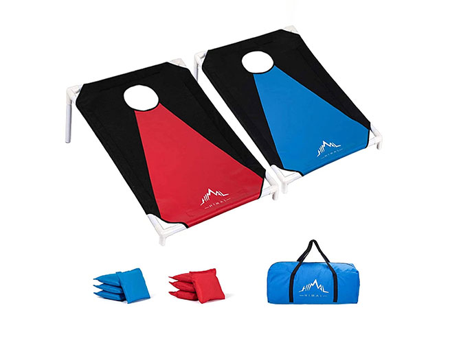 Himal-Portable-PVC-Framed Cornhole Game-Set-with-8-Bean-Bags