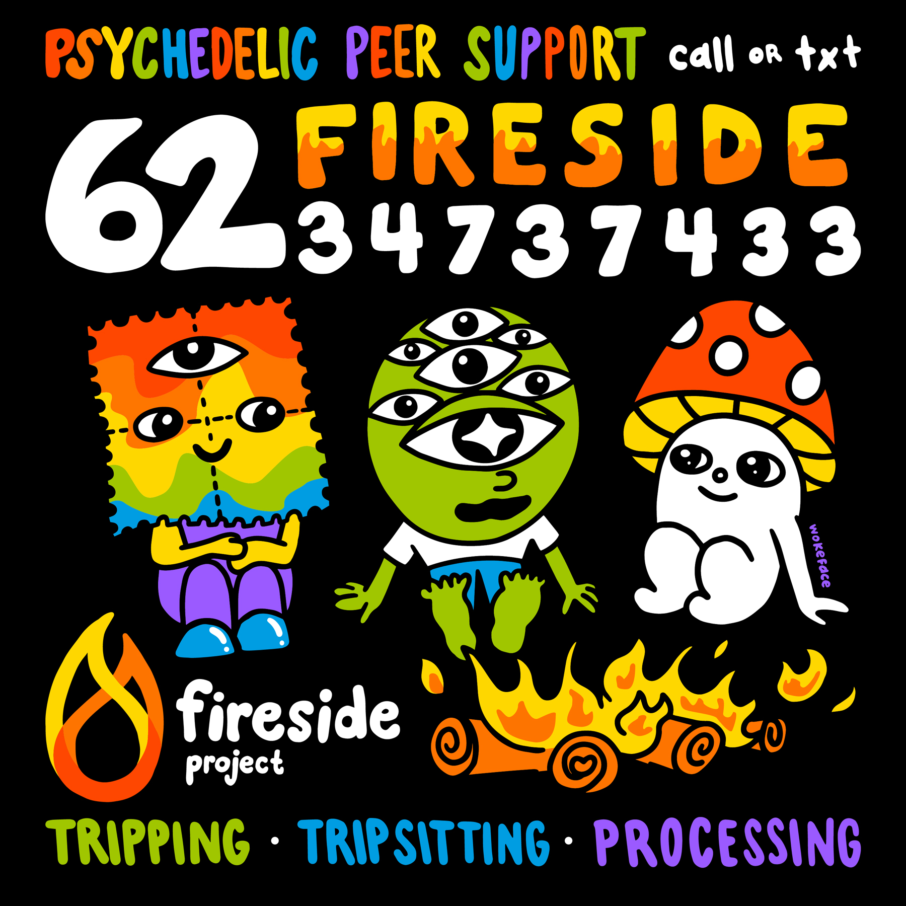 fireside psychedelic hotline