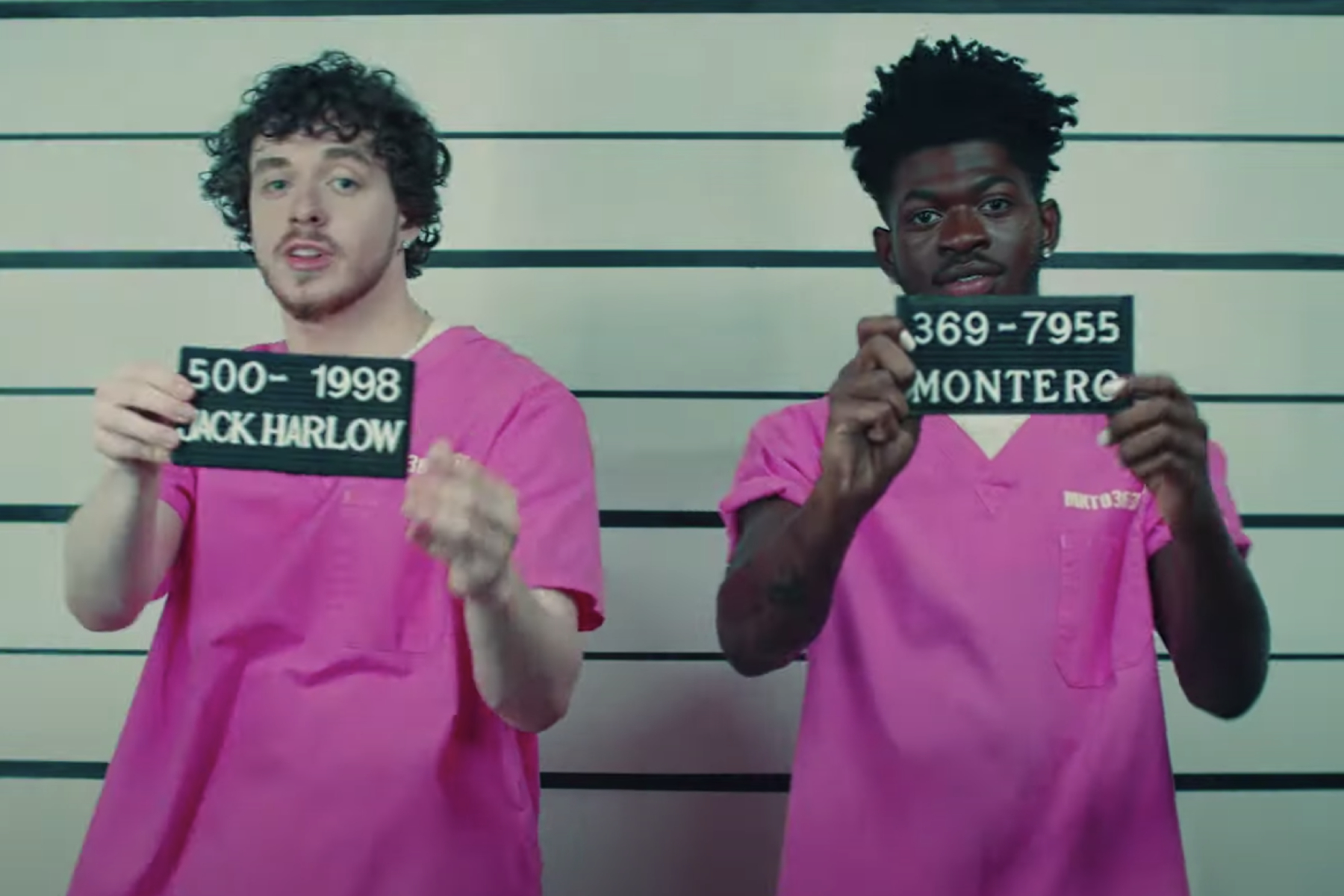 Lil Nas X, Jack Harlow Break Out of Prison in New 'Industry Baby' Video