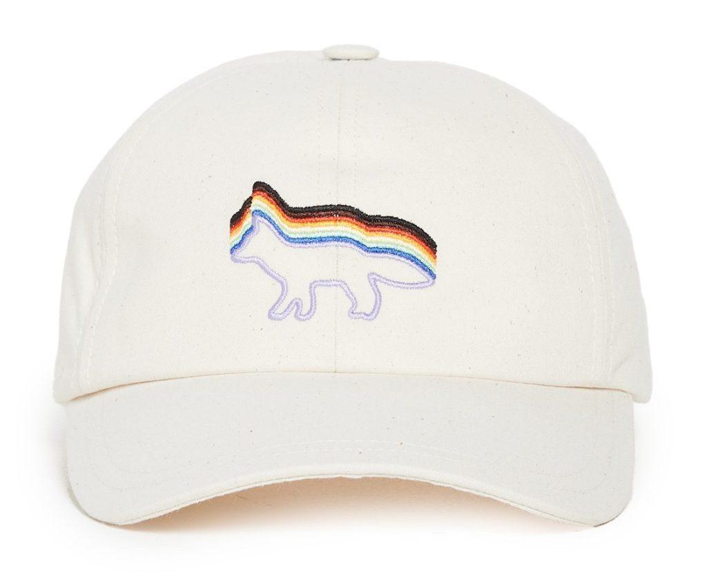 maison-kitsune-trevor-project-rainbox-fox-embroidered-cap-best-dad-hats