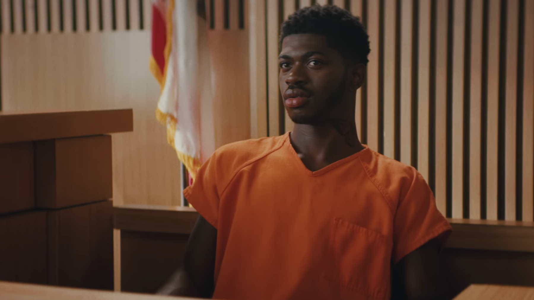 Lil Nas X Puts Himself on Trial for Satan Shoes in Teaser for New Song 'Industry Baby'
