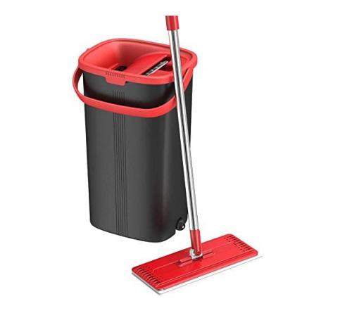 TETHYS Flat Mop and Bucket Set