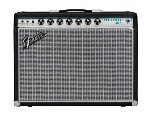 Fender 68 Custom Pro Reverb 40W 1x12 Guitar Combo Amp Black