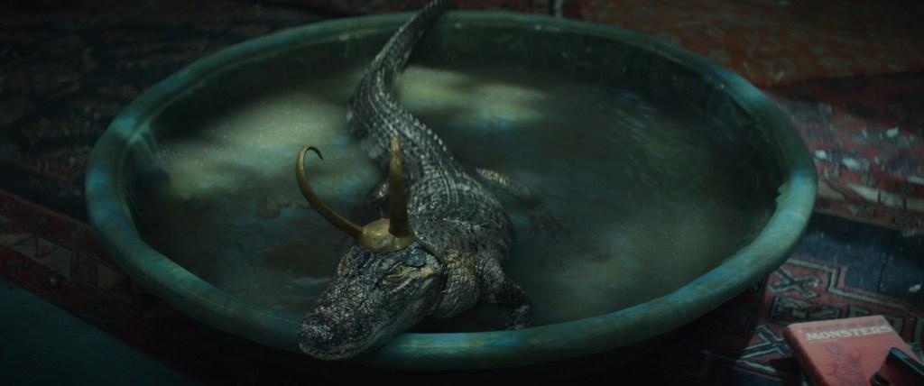 Alligator Loki in Marvel Studios' LOKI, exclusively on Disney+. Photo courtesy of Marvel Studios. ©Marvel Studios 2021. All Rights Reserved.