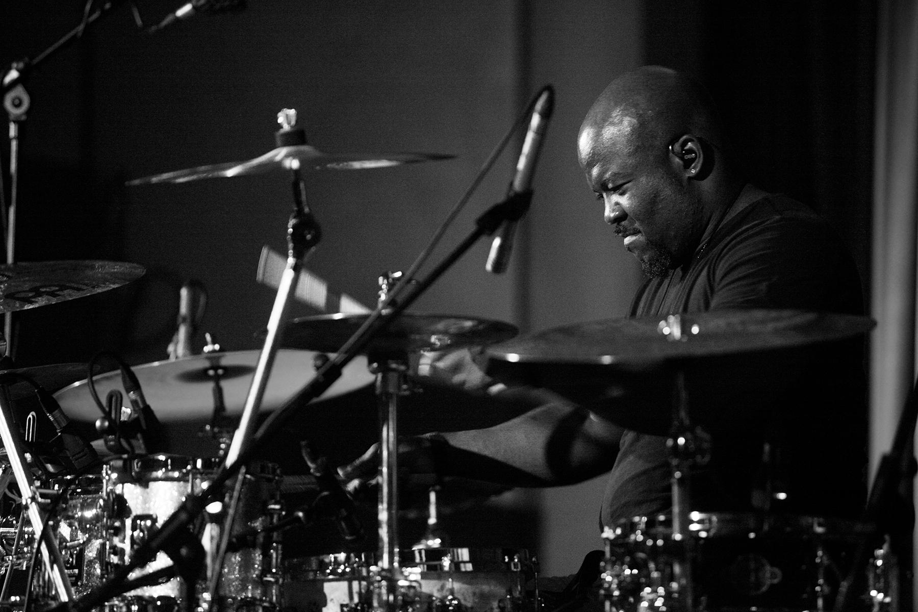 Chris Coleman, American drummer, United Kingdom, 2013. (Photo by Richard Ecclestone/Redferns)