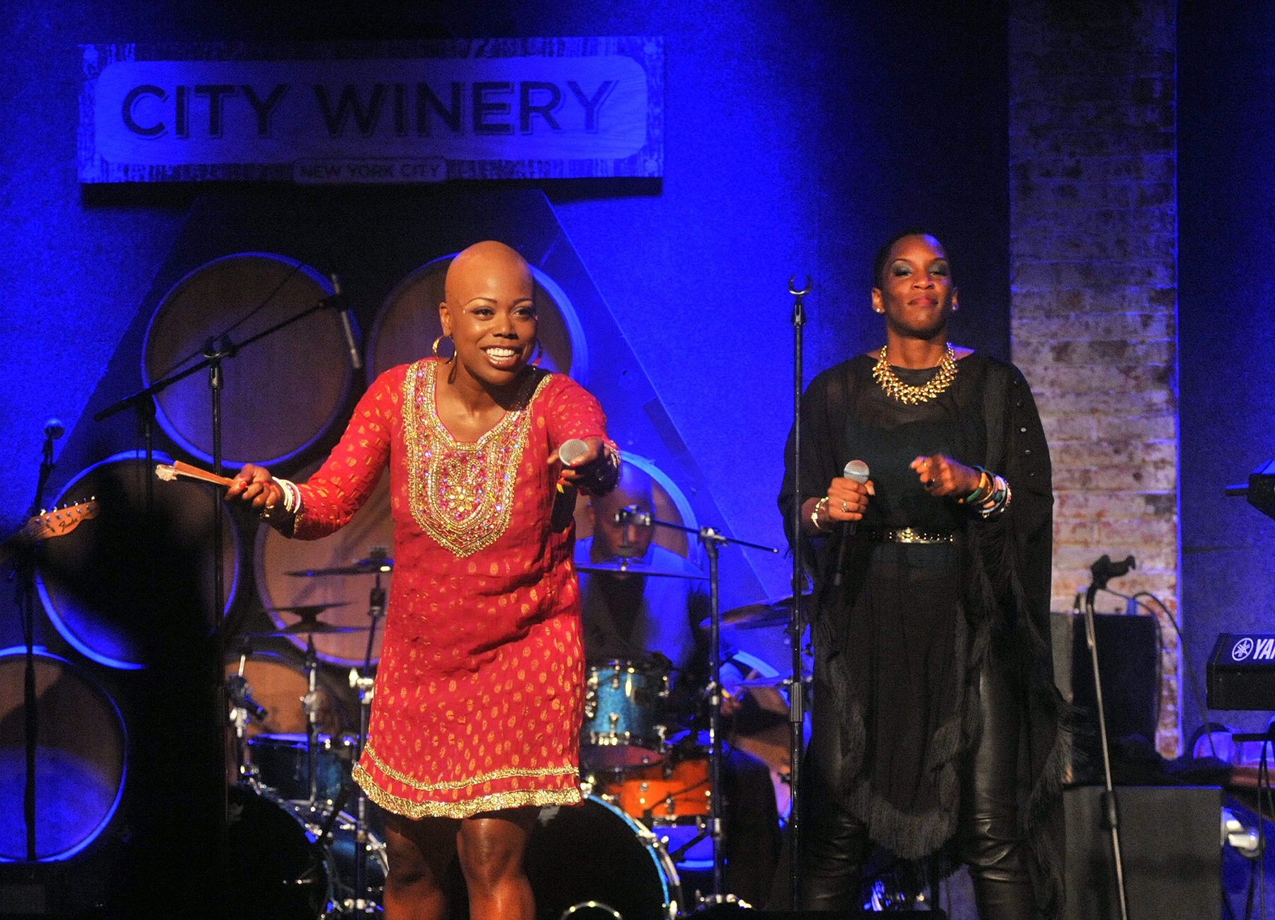 NEW YORK, NY - AUGUST 21: Singer Shelby J and Liv Warfield perform at City Winery on August 21, 2013 in New York City. (Photo by Henry S. Dziekan III/Getty Images)