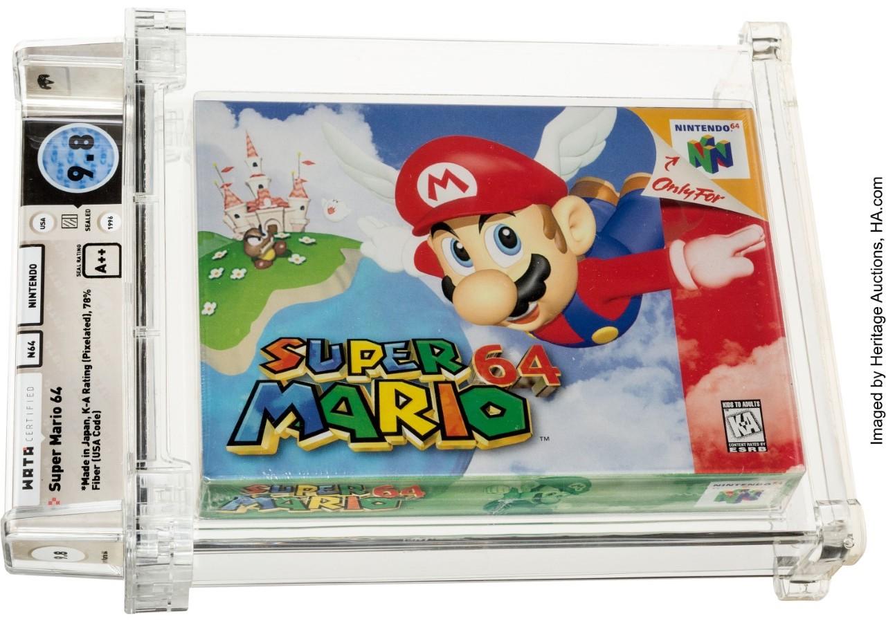 Pristine 'Tremendous Mario 64' Breaks Video Recreation Public sale File With .56 Million