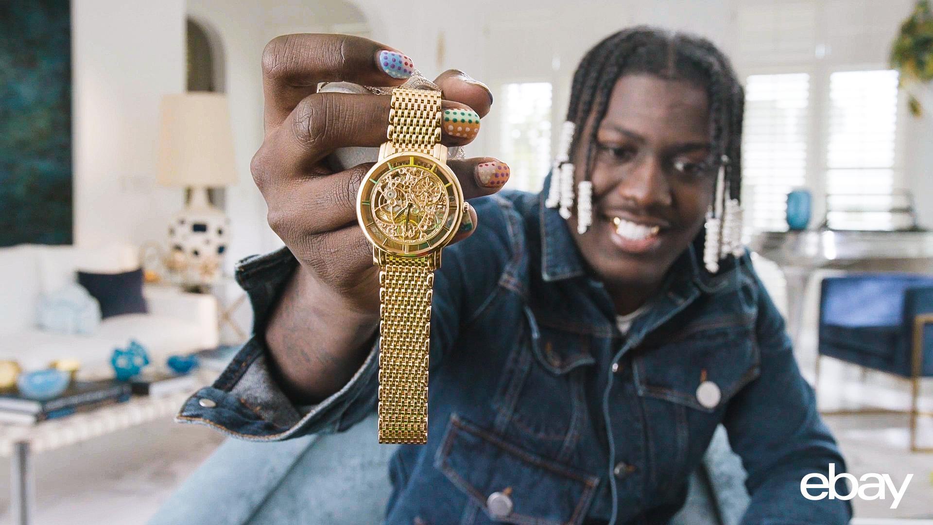 lil yachty gold watch