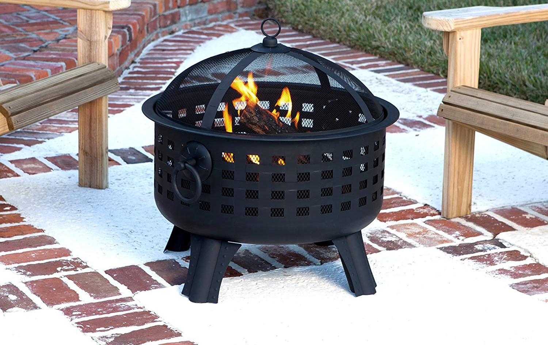 Amazon Basics Steel Lattice Fire Pit