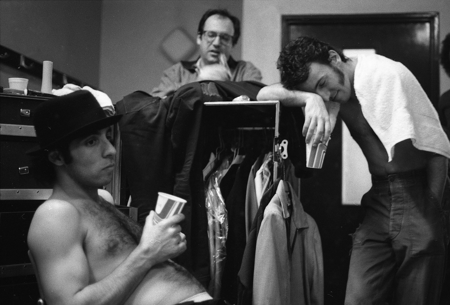 """TEAM OF RIVALS: Van Zandt, Landau, and Springsteen backstage in Brussels, 1981. """"At the time, I was hurt by the thought that maybe Jon resented my complete direct access to Bruce,"""" Van Zandt writes. """"In the end, I don't think Jon had anything to do with the way things changed. There comes a time when people want to evolve without any baggage."""""""