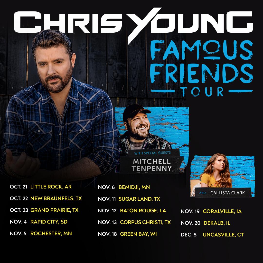 Chris Young, tour dates