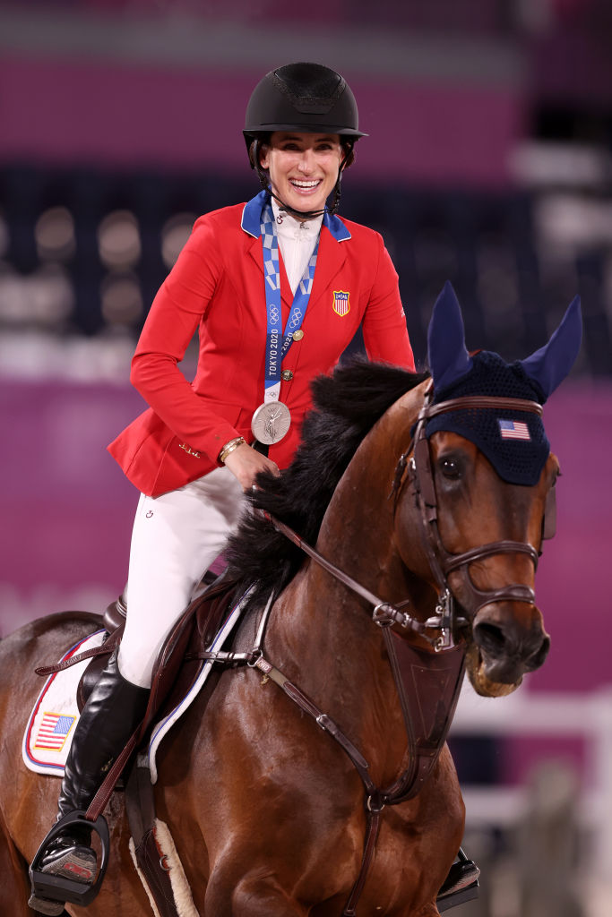 Silver medalist Jessica Springsteen