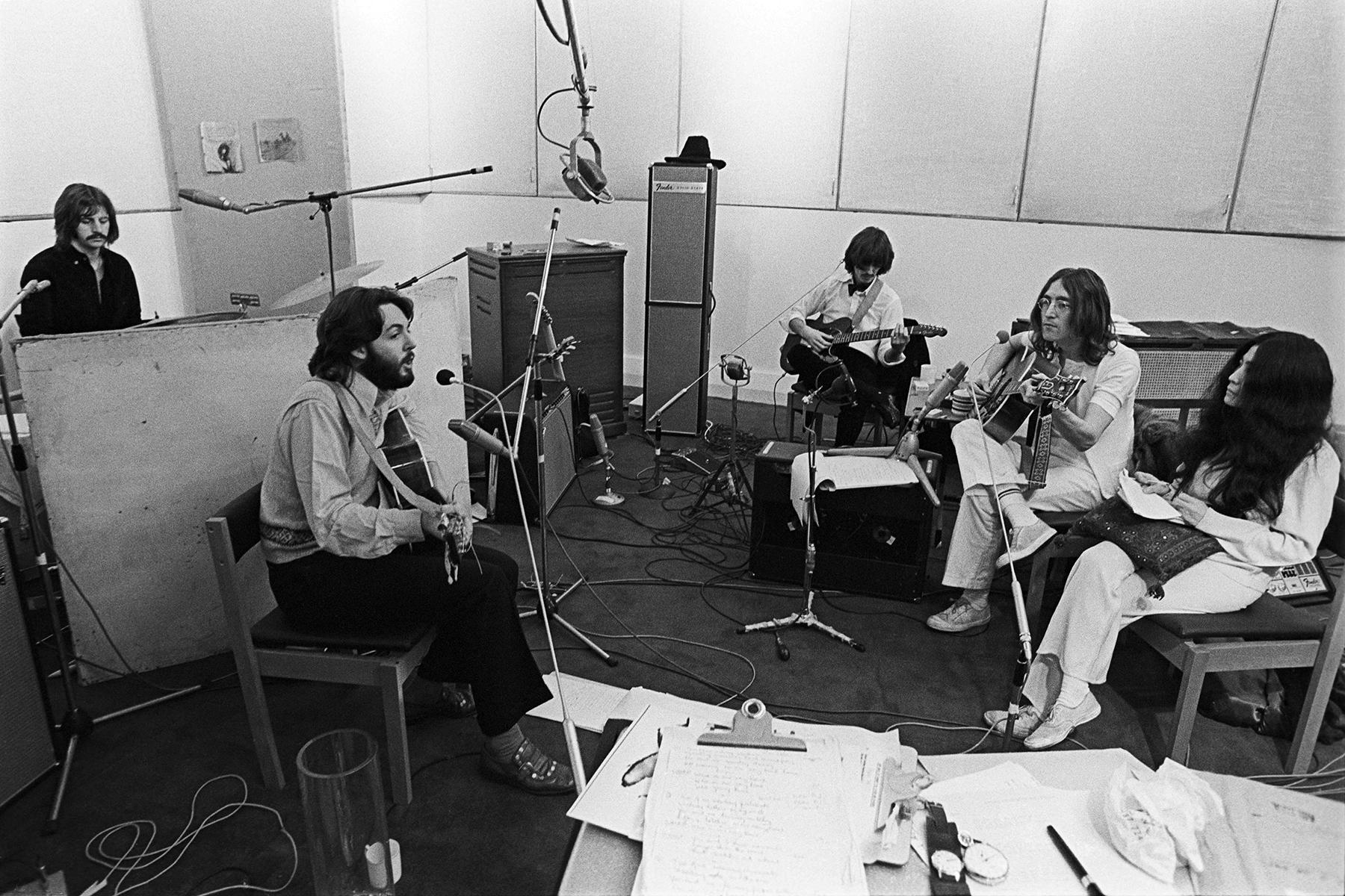 The Beatles at Apple Studios. 24 January 1969