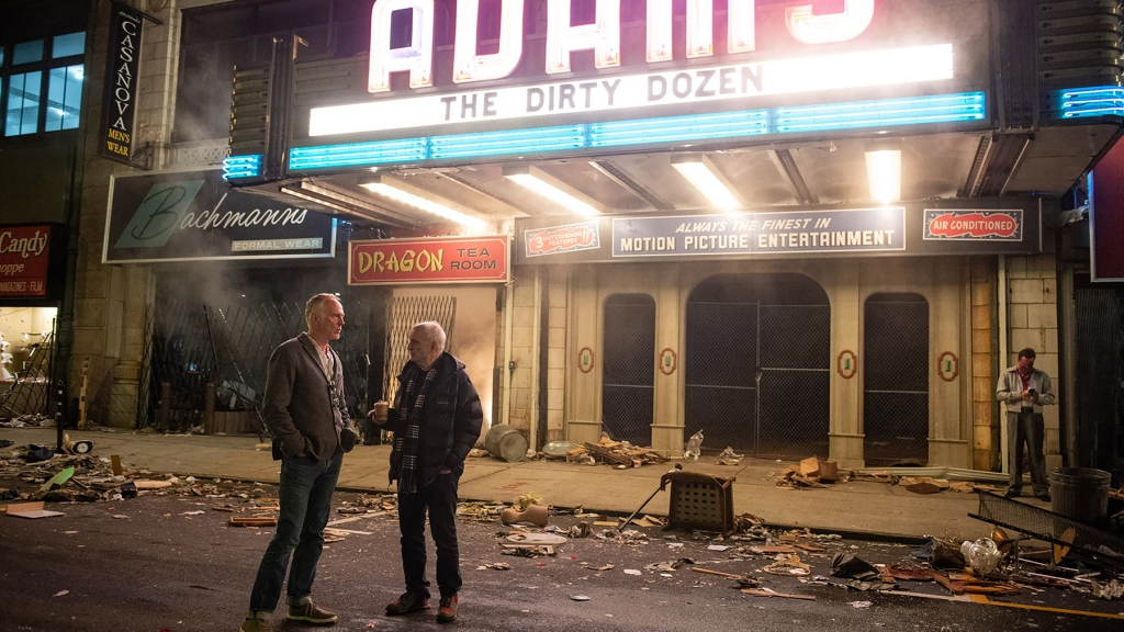 """(L-r) Director ALAN TAYLOR and creator/writer/producer DAVID CHASE on the set of New Line Cinema and Home Box Office's mob drama """"THE MANY SAINTS OF NEWARK,"""" a Warner Bros. Pictures release."""