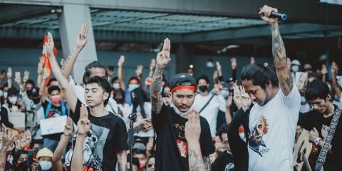 myanmar protest music