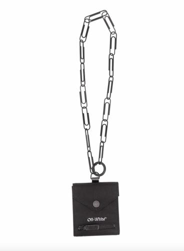 men's designer chain wallet