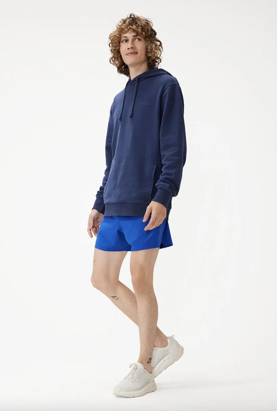 short shorts mens blue
