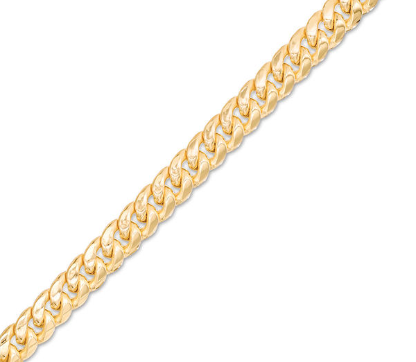 Made in Italy 200 Gauge Semi-Solid Cuban Curb Chain Bracelet