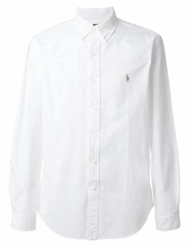 white oxford shirt mens polo