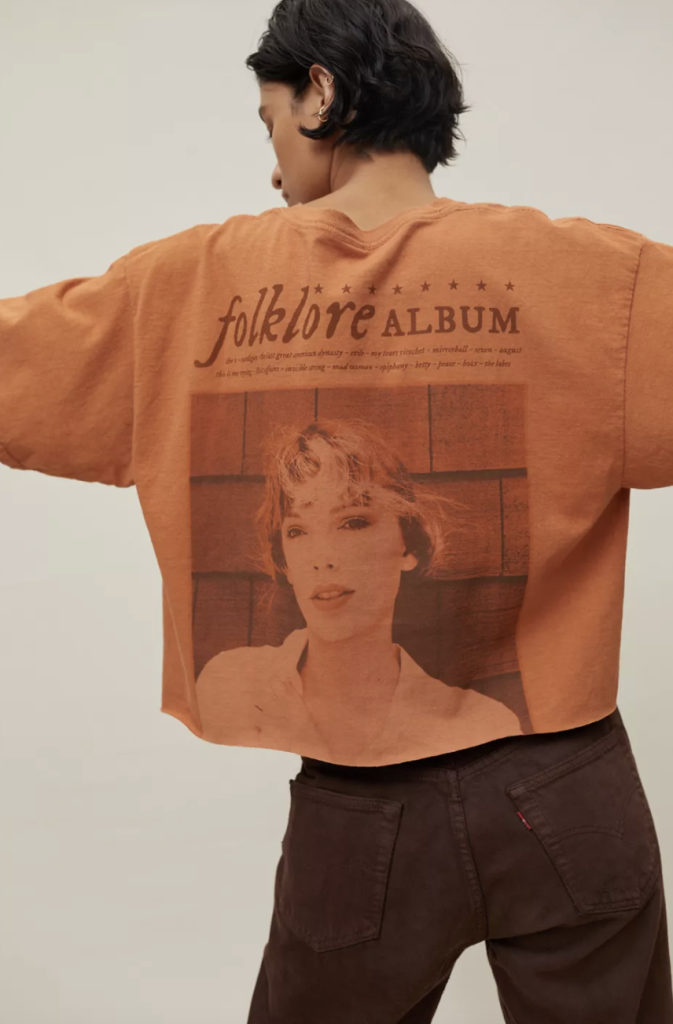 cropped tee taylor swift urban outfitters