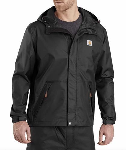 black rain jacket carhartt