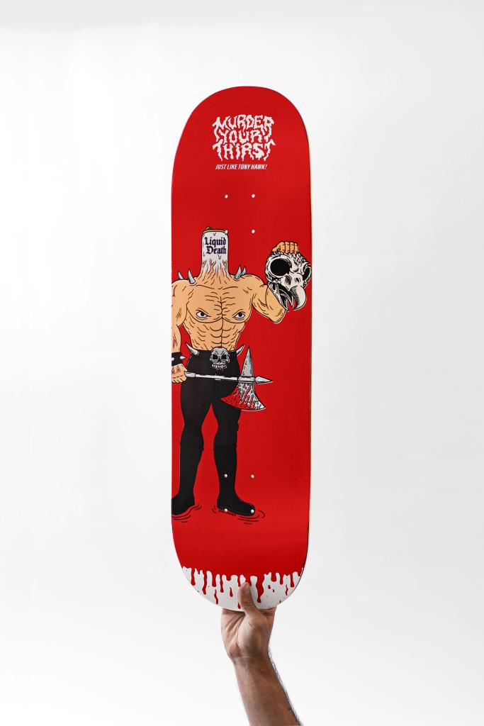 tony hawk liquid death skateboard
