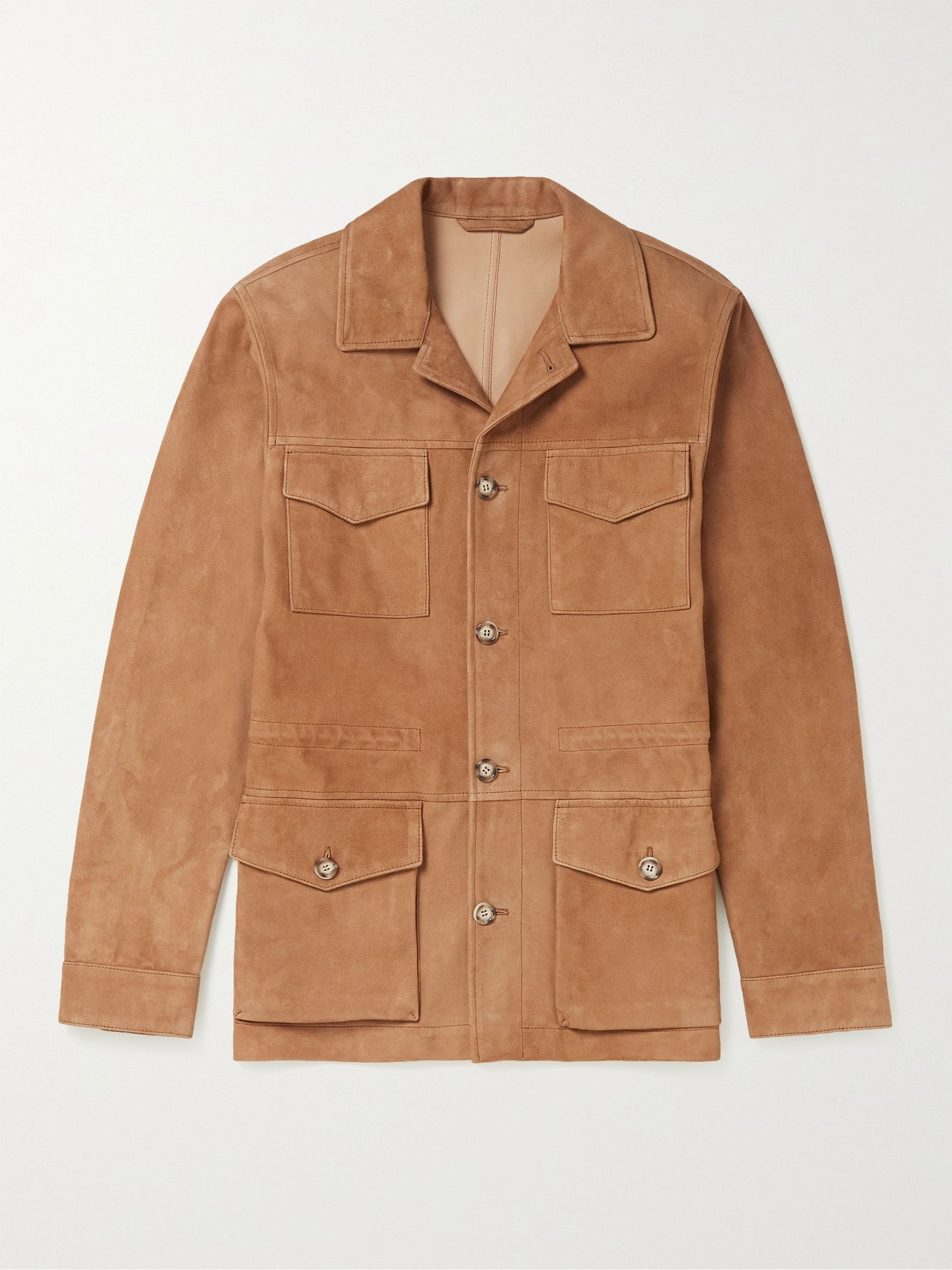 tan military jacket suede