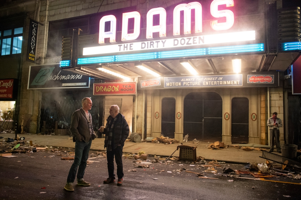 """Caption: (L-r) Director ALAN TAYLOR and creator/writer/producer DAVID CHASE on the set of New Line Cinema and Home Box Office's mob drama """"THE MANY SAINTS OF NEWARK,"""""""