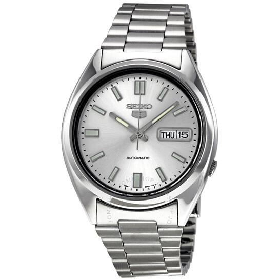 silver watch seiko 5 men's