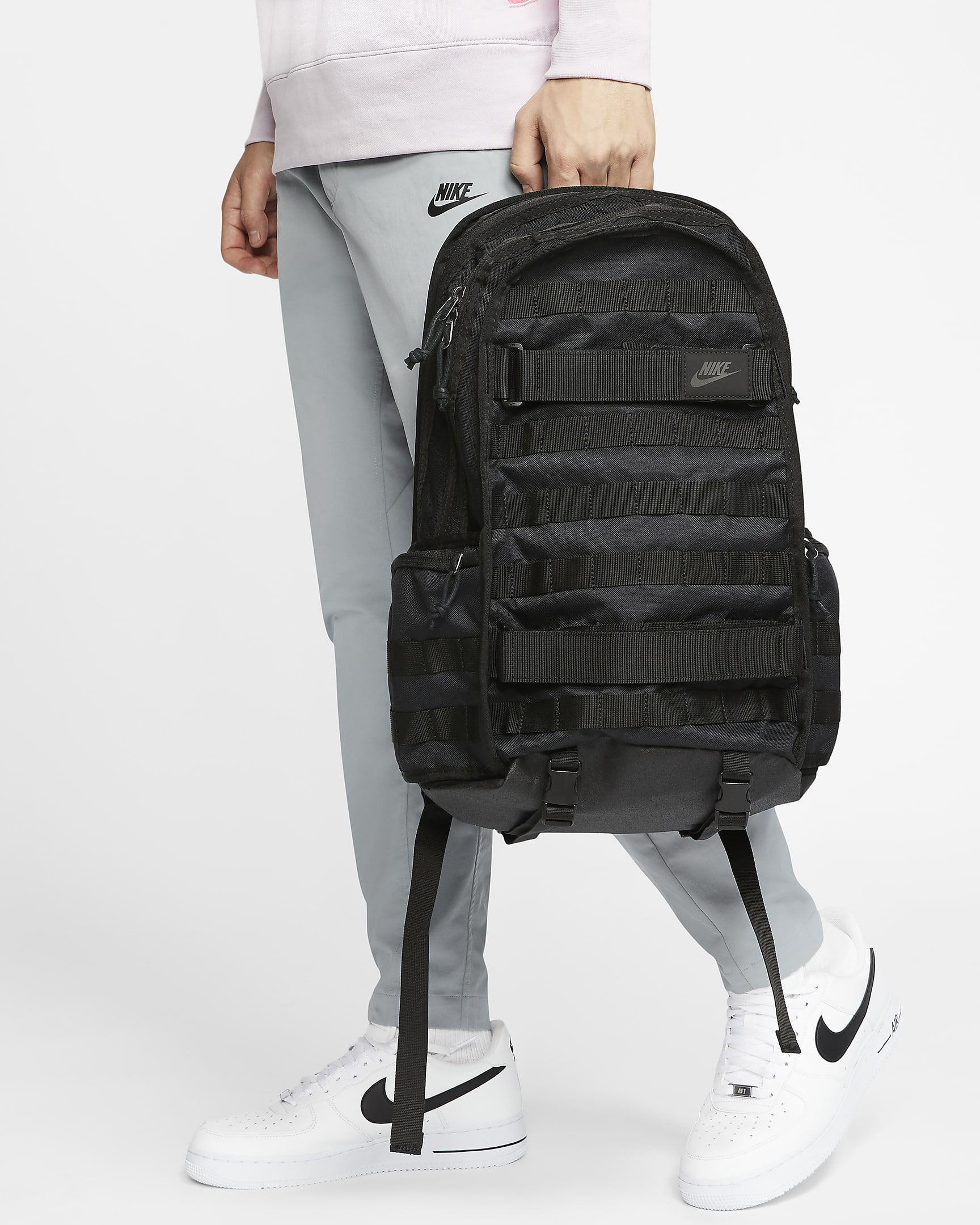 black backpack mens nike