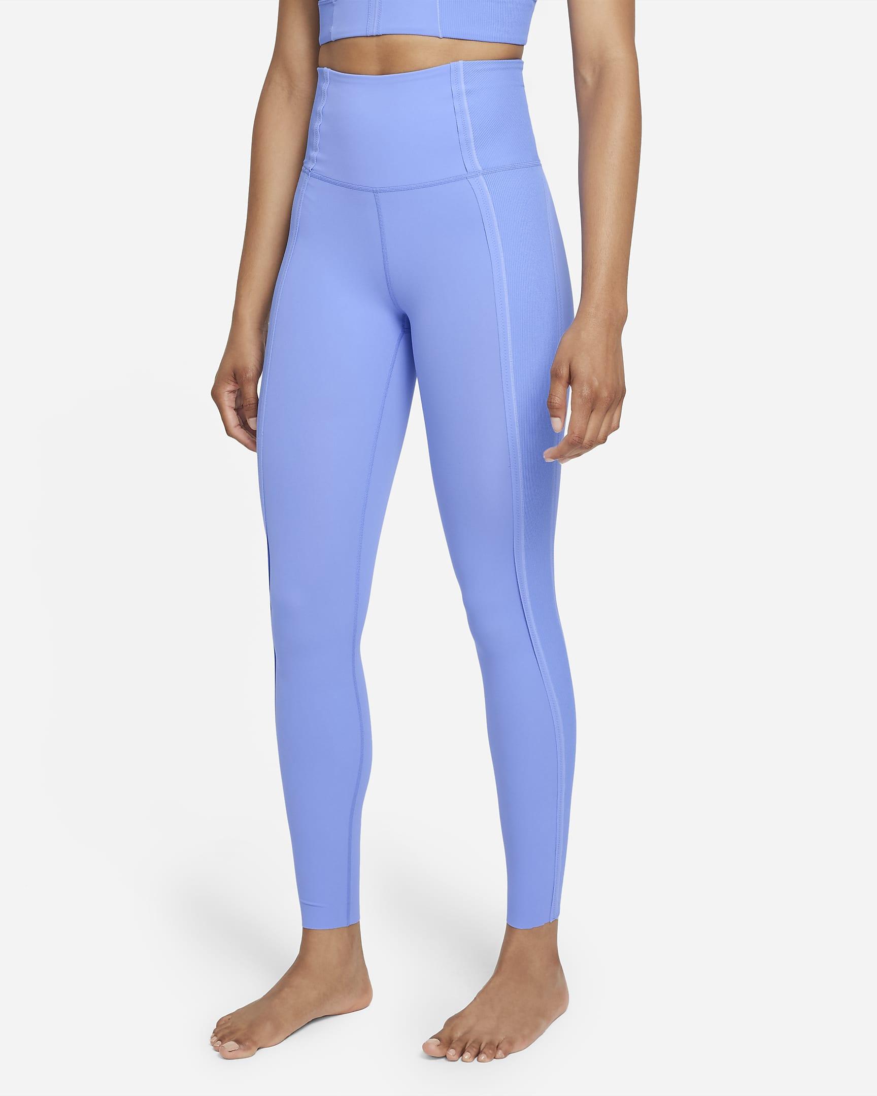 blue leggings nike yoga