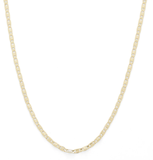 040 Gauge Hollow Valentino Chain Necklace