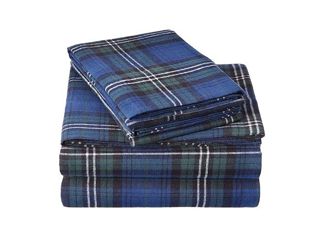 Pinzon Plaid-Flannel-Bed-Sheet-Set