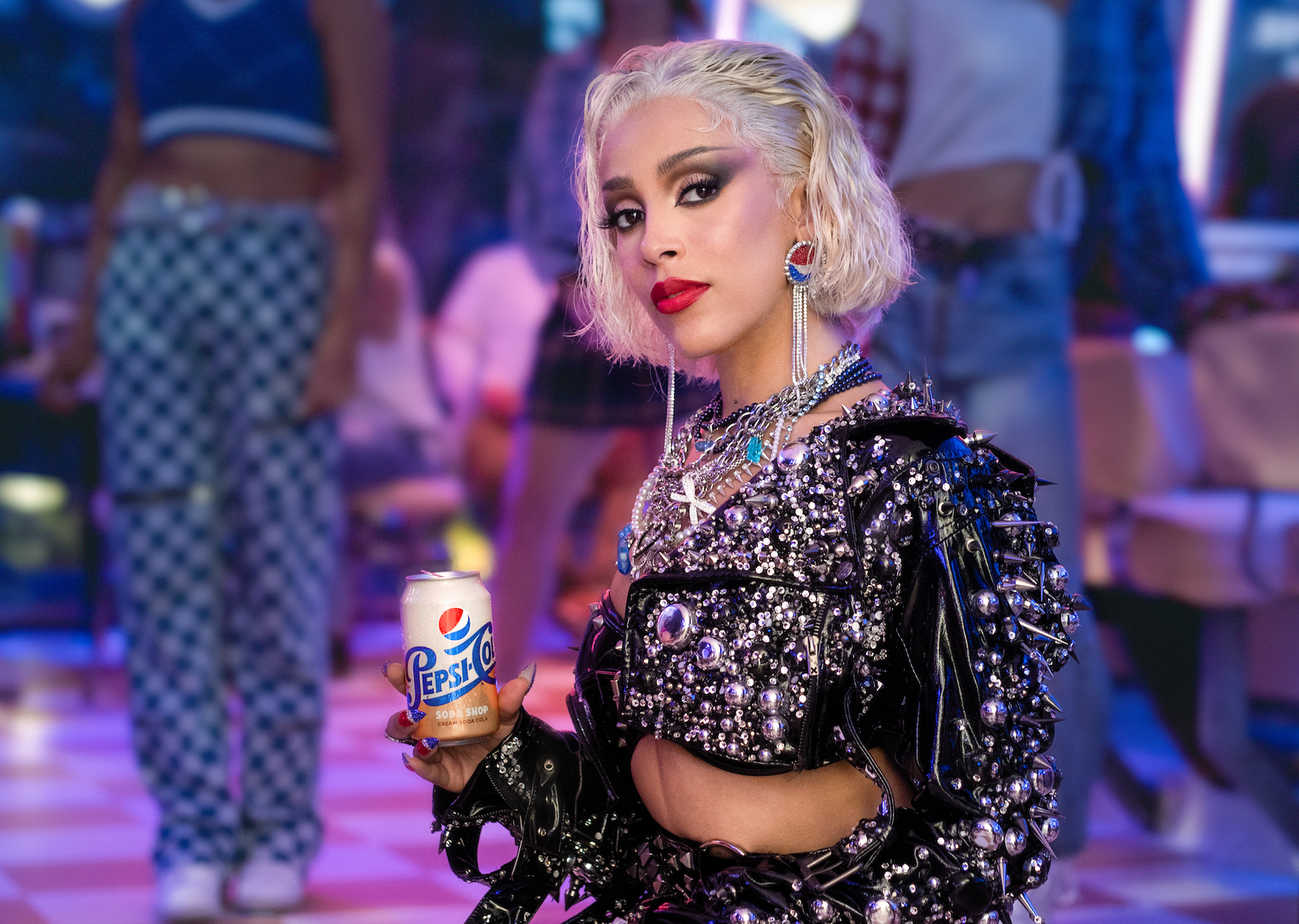Doja Cat Talks Remixing 'Grease,' Channeling 'Bad Sandy' in New Pepsi Commercial