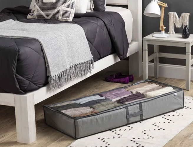 Dotted-Line-Flexible-Fabric-Underbed-Storage-Set