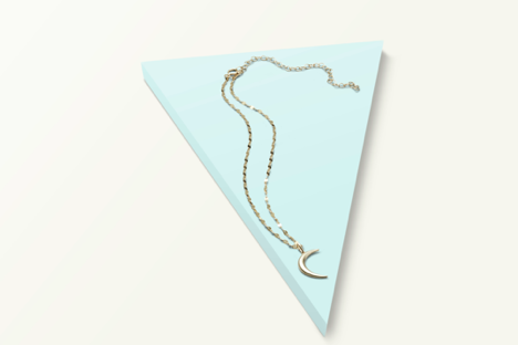Made in Italy Mirror Chain Choker Necklace