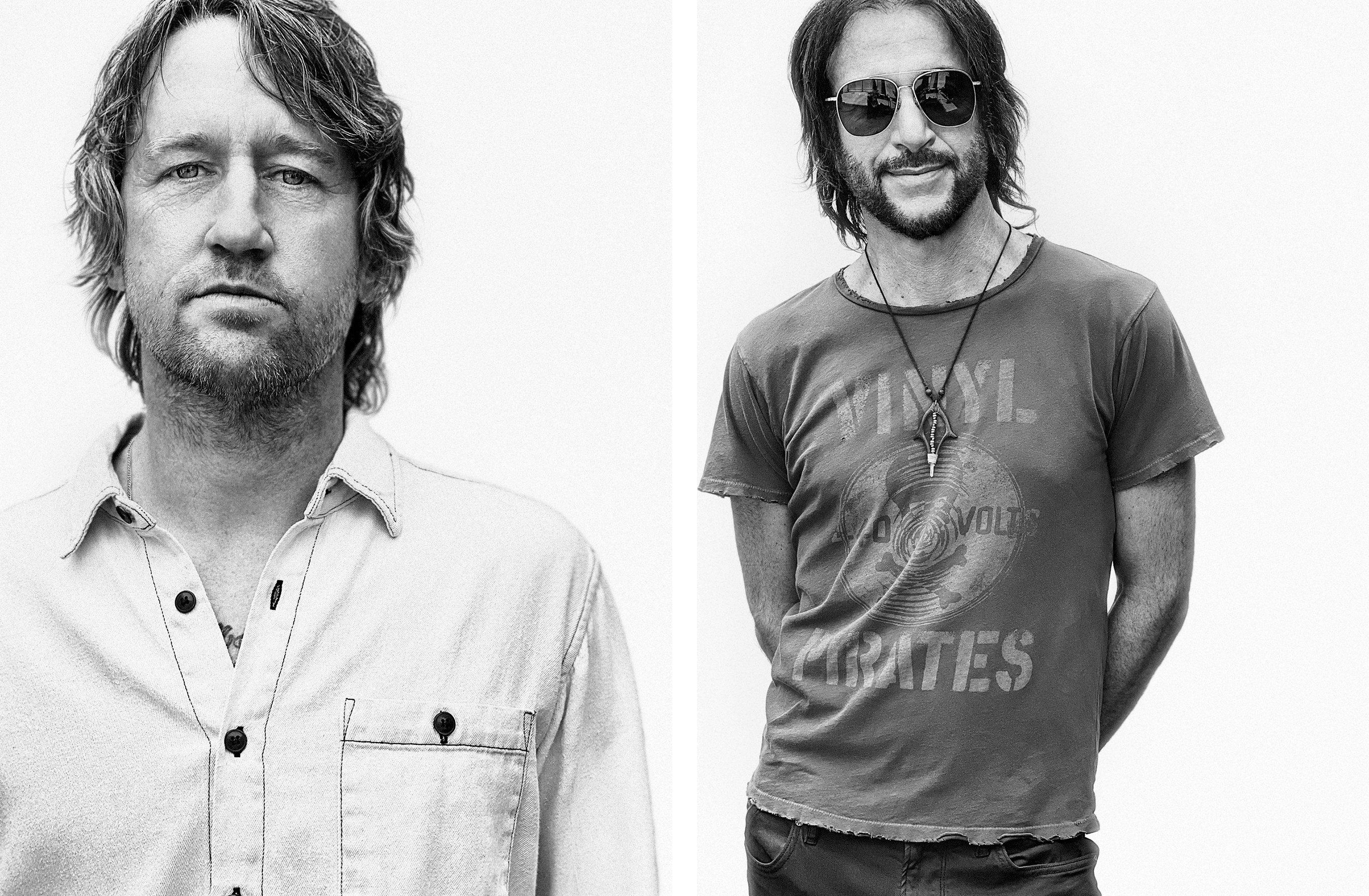 Chris Shiflett and Rami Jaffee photographed in Los Angeles on June 10th, 2021.