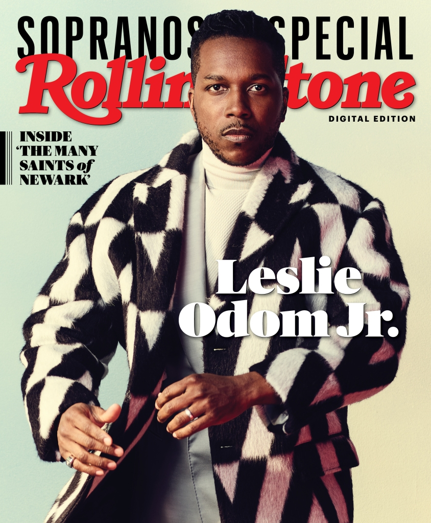 Leslie Odom, Jr. photographed by Joe Pugliese for Rolling Stone. Produced by Walaa Elsiddig and Shelby Gordon. Set Design by Ward Robinson for Wooden Ladder. Grooming by Joanna Pensinger for The Wall Group. Styled by Avo Yermagyan.
