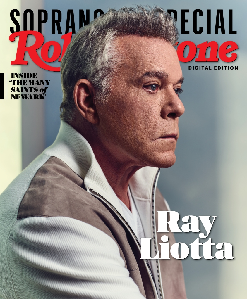 Ray Liotta photographed by Joe Pugliese for Rolling Stone. Produced by Walaa Elsiddig and Shelby Gordon. Set Design by Ward Robinson for Wooden Ladder. Grooming by Joanna Pensinger for The Wall Group. Styled by Stephanie Tricola for Honey Artists. Jacket by Brioni. Shirt by James Perse.