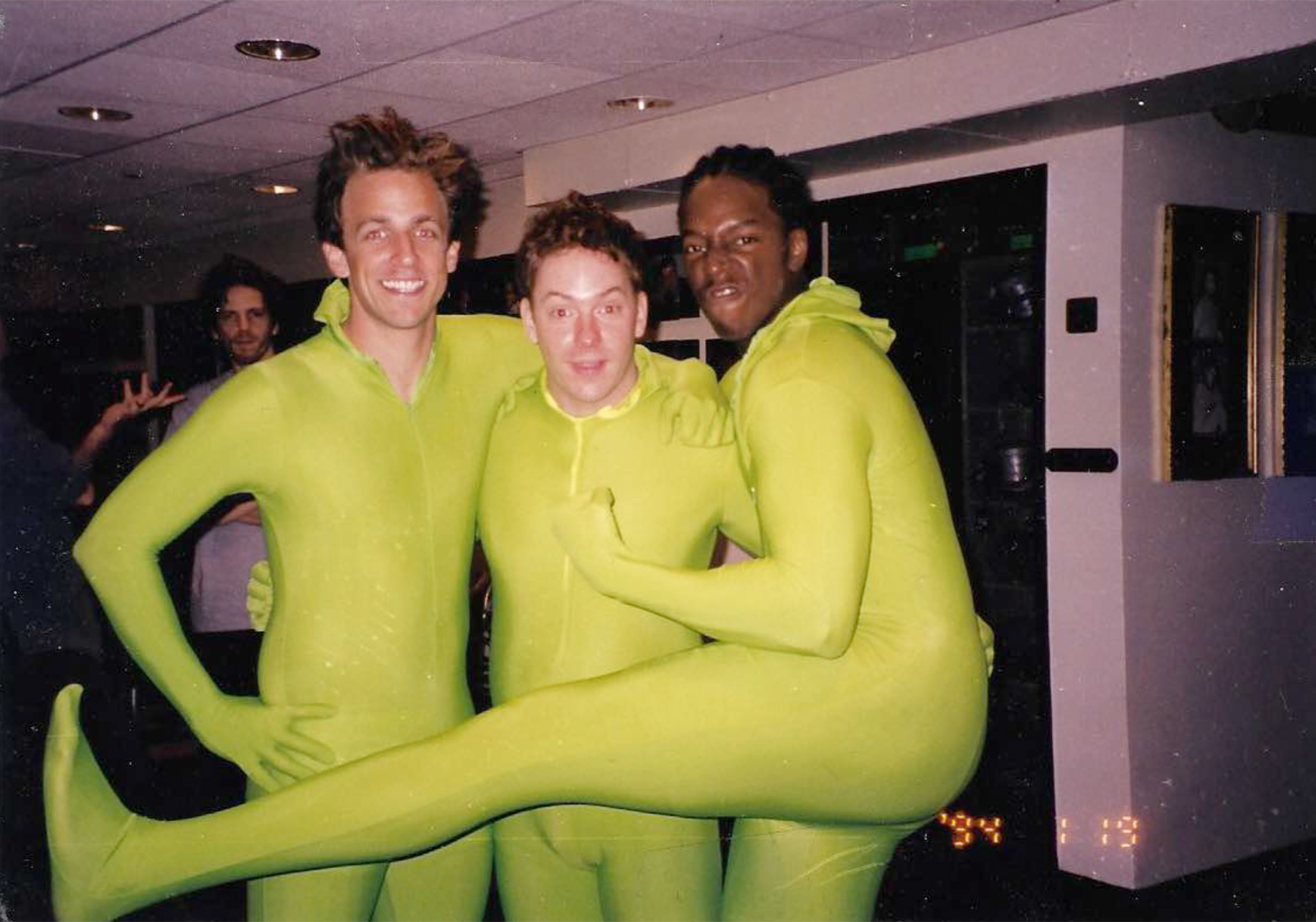 Three of the new featured players for season 27: Seth Meyers, Jeff Richards and Dean Edwards, during their first week at 'Saturday Night Live' in September of 2001.