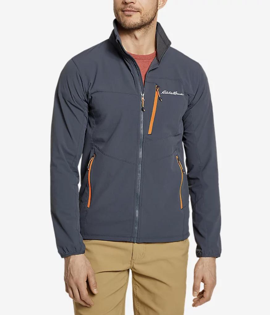 windbreaker jacket mens grey