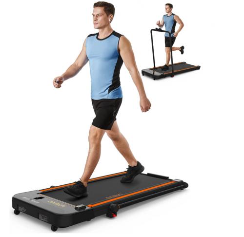 UREVO 2 in 1 Under Desk Folding Electric Treadmill