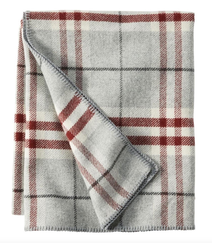 plaid blanket wool ll bean