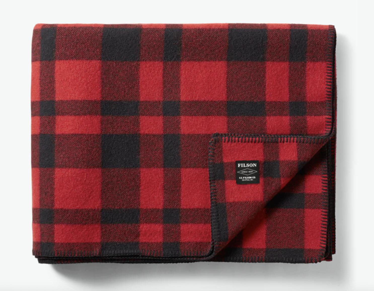 plaid blanket wool filson