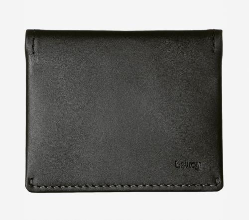 black minimalist wallet bifold leather