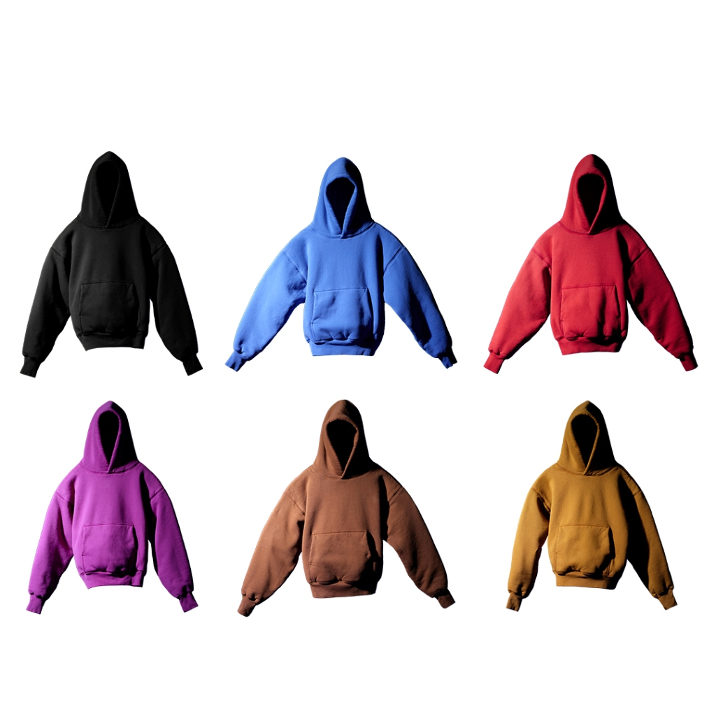 The rainbow of Yeezy Gap hoodies